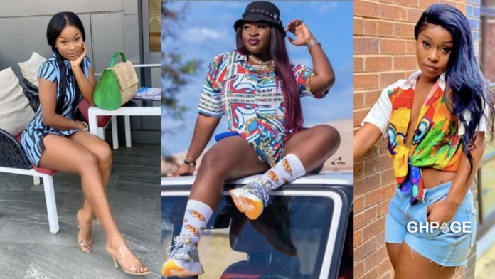 Musician Sista Afia and nudest Efia Odo are at war with each other on social media again. The two had not been good friends in the past by recently, they came together to settle their differences and made peace. Just weeks after making peace, they are now back at the neck of each other and this time their fight is somehow funny. Well, it started when a tweep shared a post on social media asking people to comment who that was adding that people should give out wrong answers only. Efia Odo after sighting the post commented on the photo by mentioning the name of Sista Afia on the post something that got the musician angry who clapped back at her with a warning and threatening to beat the hell out of Efia Odo. See screenshot of their fights on social media. Sista Afia -Efia Odo Sista Afia -Efia Odo Sista Afia -Efia Odo1 Sista Afia -Efia Odo1 Sista Afia -Efia Odo2 Sista Afia -Efia Odo2 Sista Afia -Efia Odo3 Sista Afia -Efia Odo3 Sista Afia -Efia Odo4 Sista Afia -Efia Odo4 Sista Afia -Efia Odo5 Sista Afia -Efia Odo5 Sista Afia -Efia Odo6 Sista Afia -Efia Odo6 Sista Afia -Efia Odo7 Sista Afia -Efia Odo7 Sista Afia -Efia Odo8 Sista Afia -Efia Odo8 Sista Afia -Efia Odo9 Sista Afia -Efia Odo9 Sista Afia -Efia Odo10 Sista Afia -Efia Odo10 Sista Afia -Efia Odo11 Sista Afia -Efia Odo11 We all wait to see what would happen between these two celebrities since Sista Afia is in Ghana but Efia Odo on the other hand is currently chilling in the United States with her family.