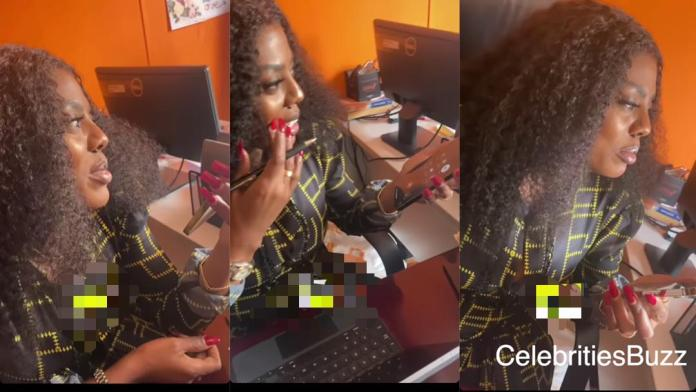 Nana Aba Anamoah missed the Lotto number given by a man through a phone call after she refused to stake it – WATCH VIDEO